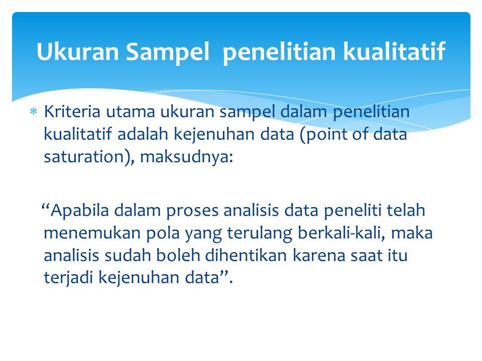 Metode Pengumpulan Data  Observation (participant & non-participant observation)- check list atau catatan lapangan.
