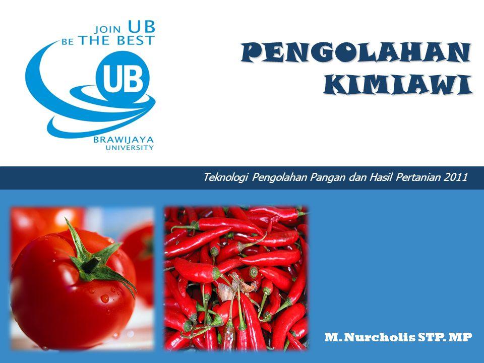PENGOLAHAN KIMIAWI M. Nurcholis STP. MP Teknologi Pengolahan Pangan dan Hasil Pertanian 2011