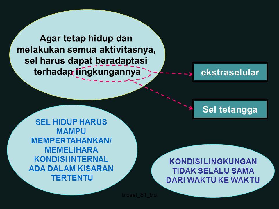 Kadar beberapa jenis ion intrasel dan ekstrasel ---------------------------------------------------------------------------------------- Akson cumi Mamalia sel darah sel darah ------------------------------------------------------------------ K+ (mM) 400 20 139 4 Na+(mM) 50 440 12 145 Cl- (mM) 40-150 560 4 116 Ca2+ (mM) 0,0003 10 <0,0002 1,8 ------------------------------------------------------------------