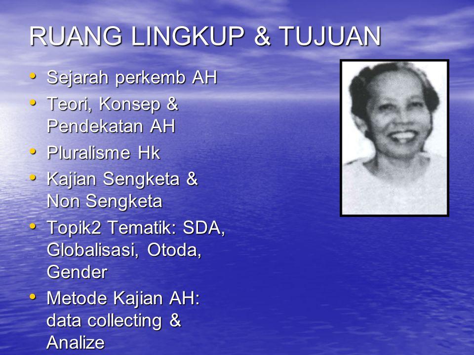 LEGAL THEORY (DISPLIN HUKUM) WOLFGANG FRIEDMANN (1967) (Purnadi Purbacaraka & Chidir Ali, 1986, Alumni Bandung h. vii – viii, Wignjosoebroto,1990,1993