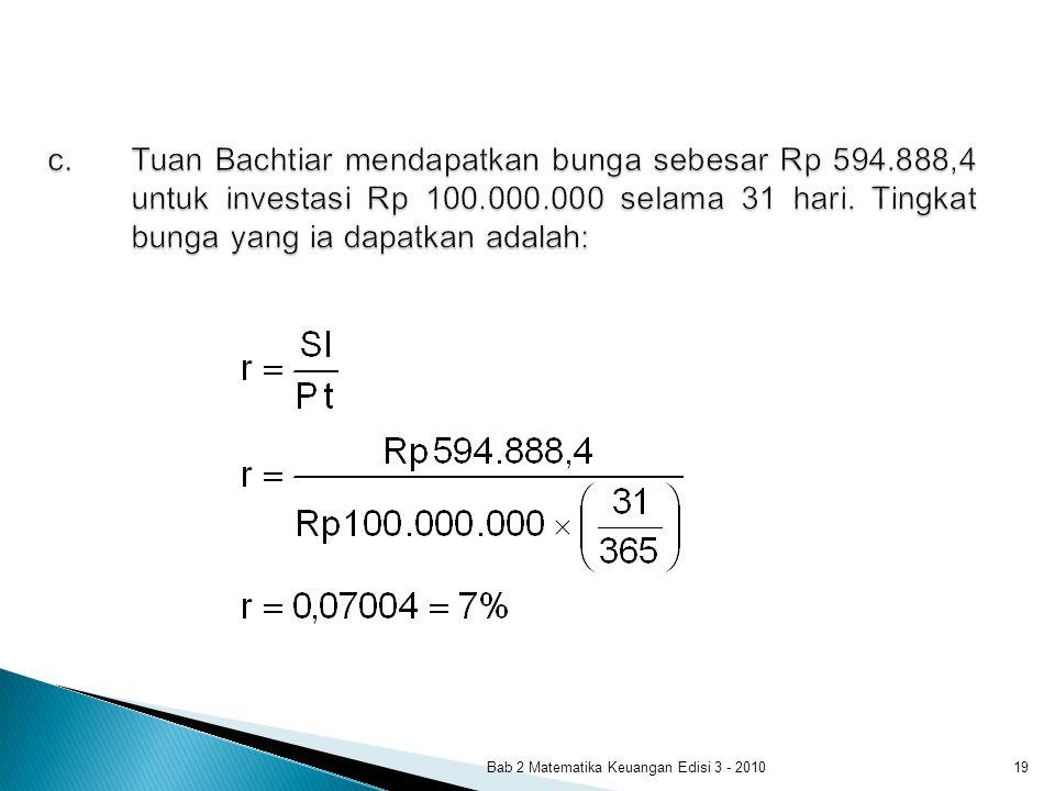 Bab 2 Matematika Keuangan Edisi 3 - 201019