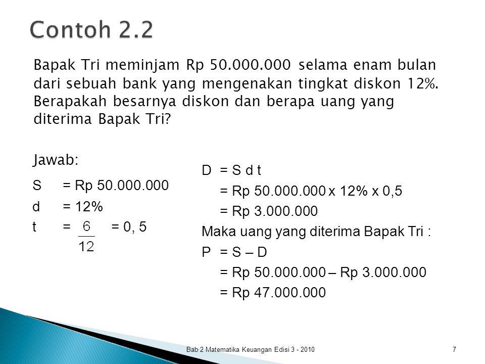 Bab 2 Matematika Keuangan Edisi 3 - 2010 8
