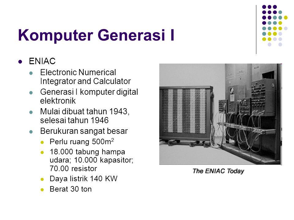 Mesin Von Neumann Dikembangkan oleh John Von Neumann, seorang ahli matematika John Von Neumann dijuluki sebagai bapak komputer modern, yang konsepnya masih dipakai sampai sekarang.
