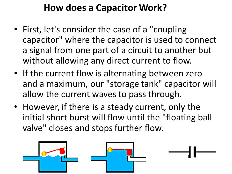 How does a Capacitor Work? First, let's consider the case of a
