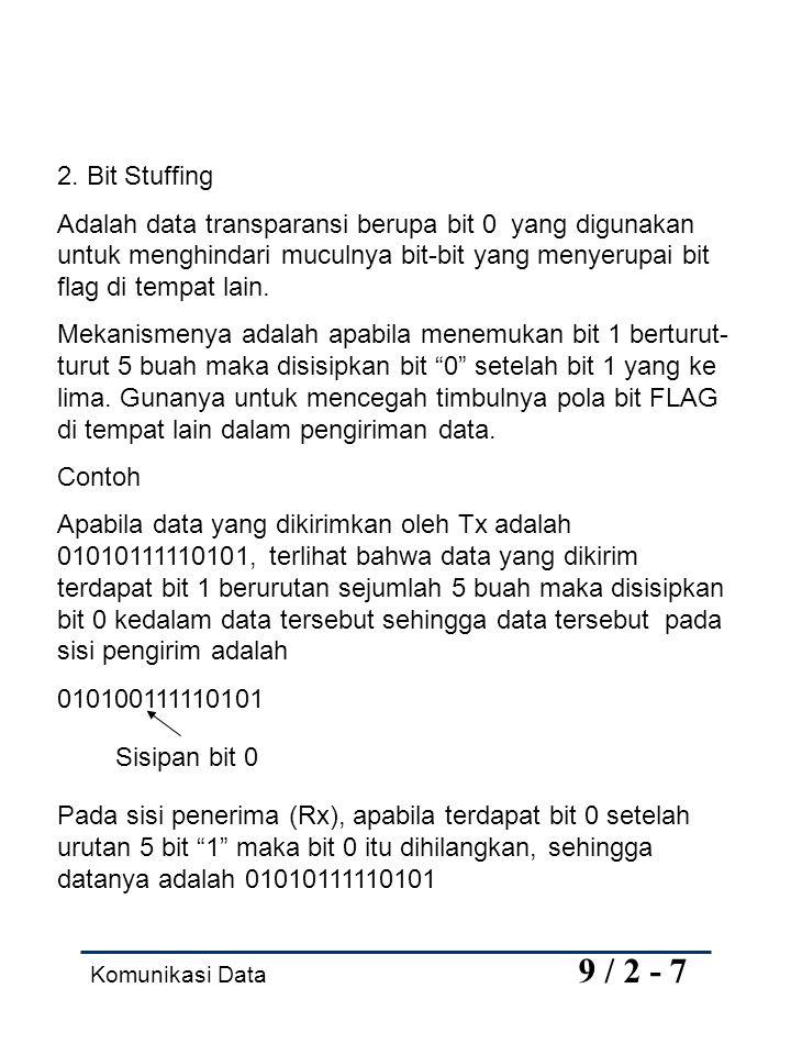 Komunikasi Data 9 / 2 - 7 2.