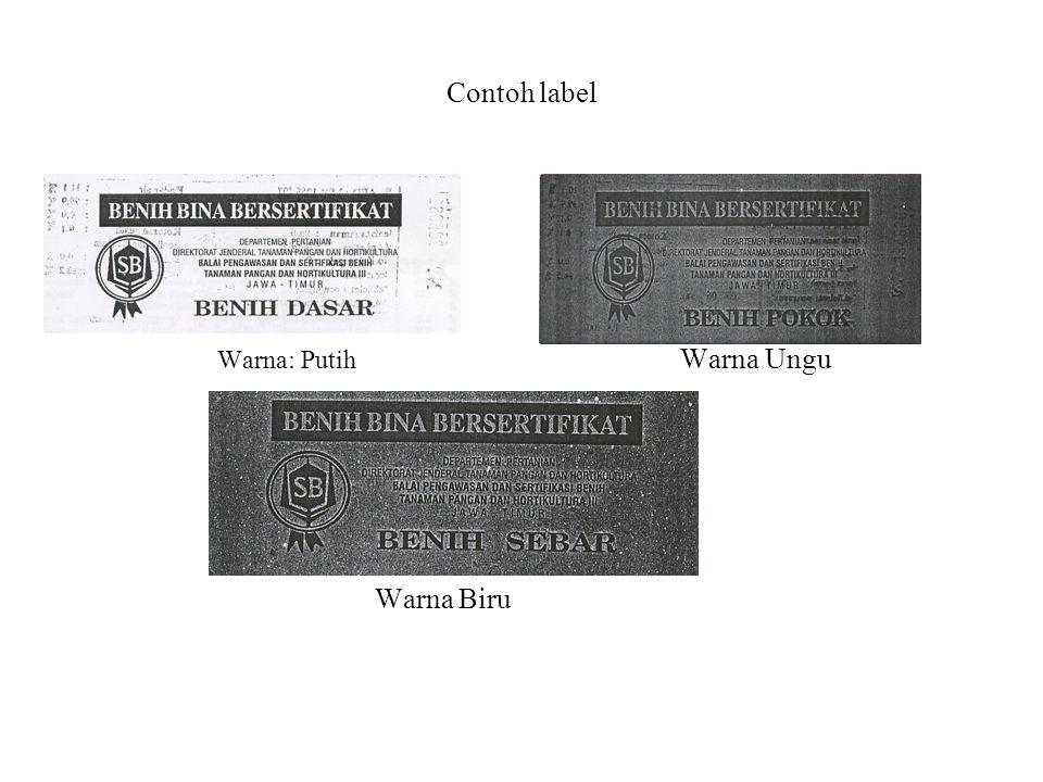Contoh label Warna: Putih Warna Ungu Warna Biru