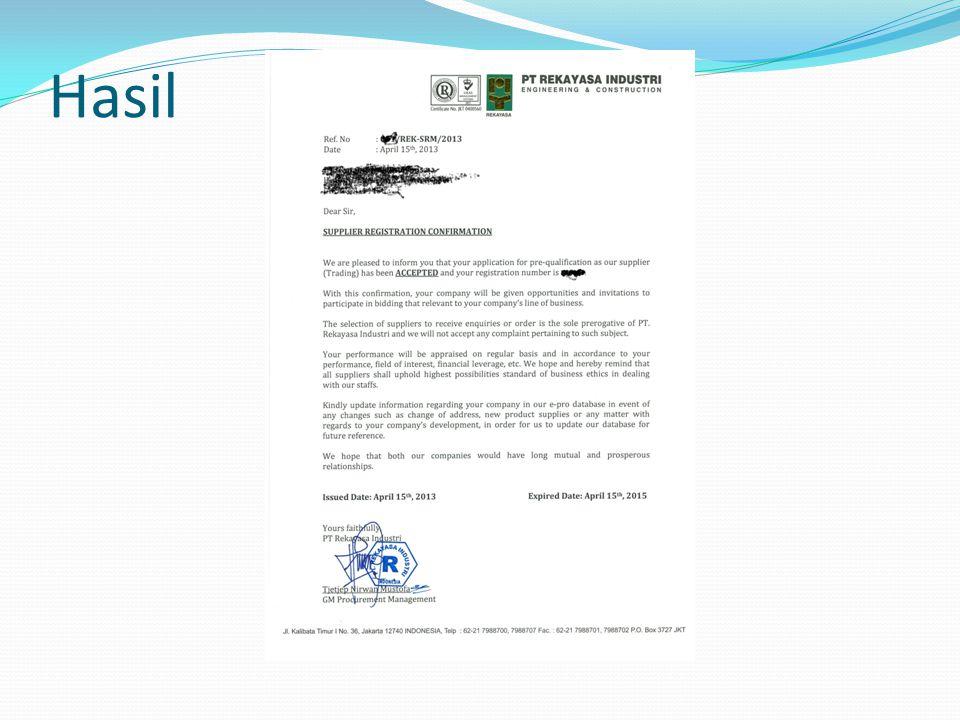 Assessment PQ Finance HSE Engineering SRM