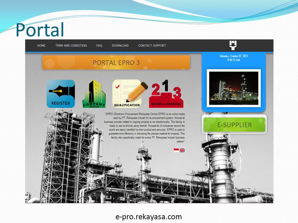 Portal EPRO 3DaftarProfil Assessment KualifikasiAssessment Hasil Flow PQ assessment