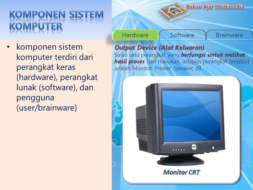 Instalasi Processor komponen sistem komputer terdiri dari perangkat keras (hardware), perangkat lunak (software), dan pengguna (user/brainware) Processing Device (Alat Pemroses) Processor merupakan bagian terpenting dalam melakukan proses masukan dan keluaran.
