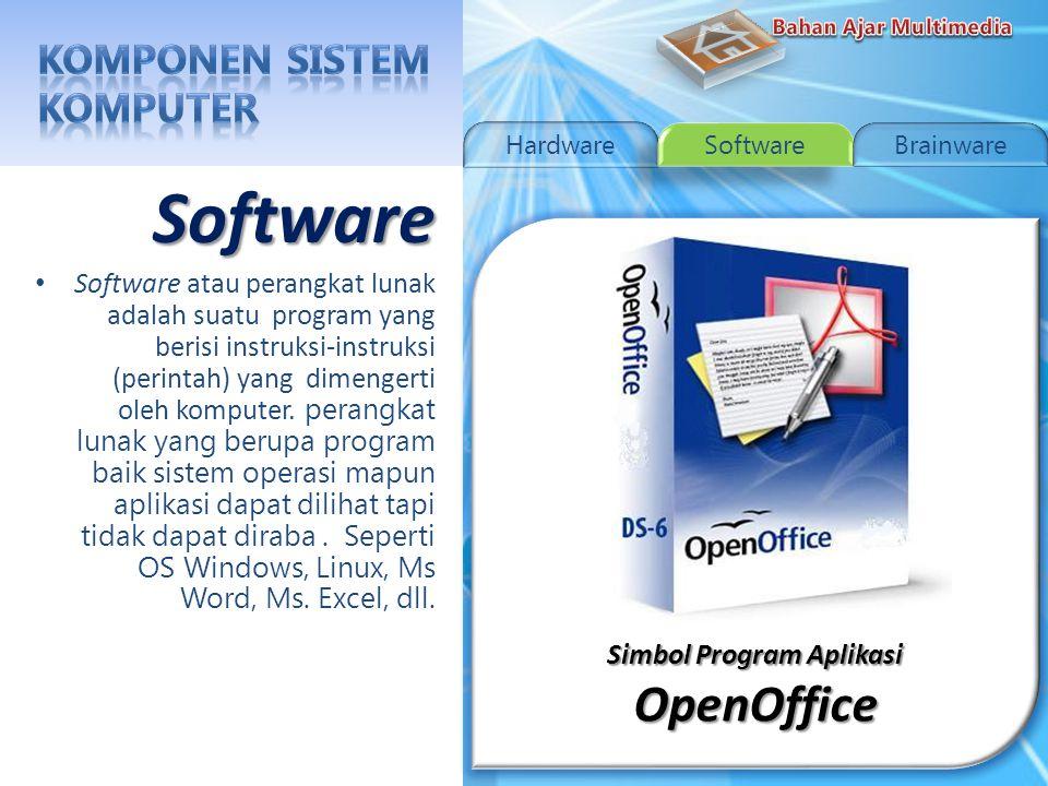 Simbol Program Aplikasi Microsoft Office Simbol Program Aplikasi Microsoft Office Software Software atau perangkat lunak adalah suatu program yang berisi instruksi-instruksi (perintah) yang dimengerti oleh komputer.