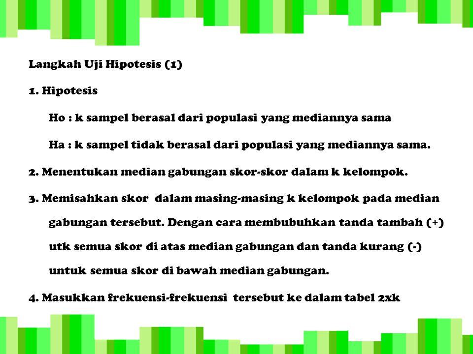 Langkah Uji Hipotesis (2) 5.