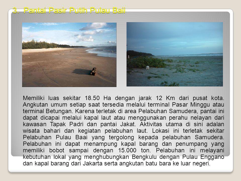 2. Pantai Jakat Pantai Jakat merupakan pantai dengan kelandaian 0 -1,5 meter dan luas  100 Ha, menjadi pusat pemandian laut bagi wisatawan dan masyar