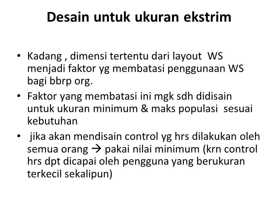 Desain untuk ukuran ekstrim Kadang, dimensi tertentu dari layout WS menjadi faktor yg membatasi penggunaan WS bagi bbrp org.