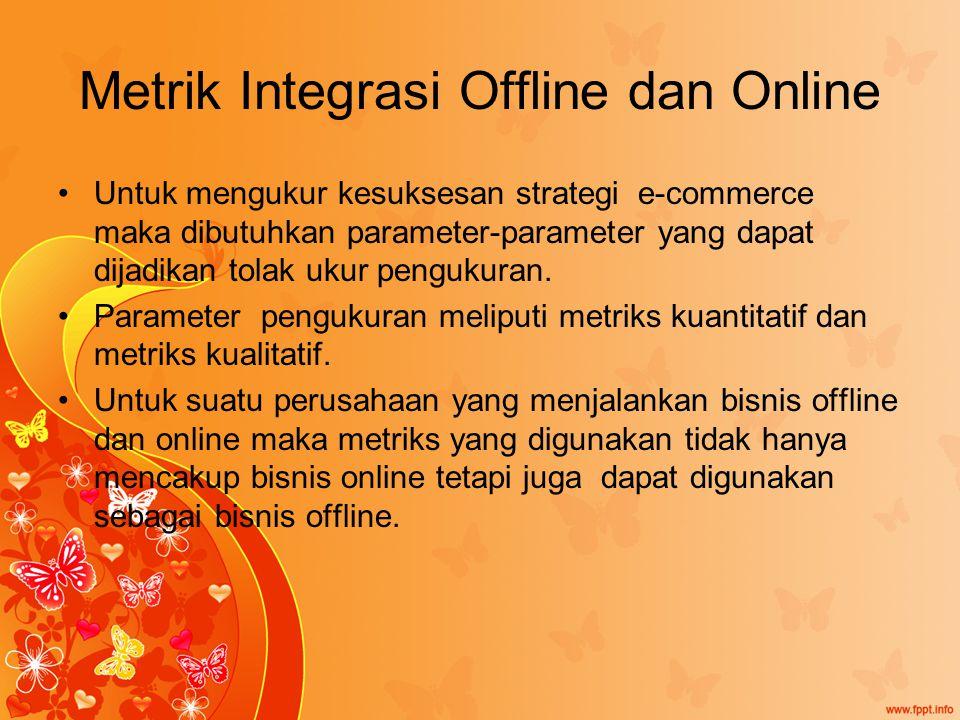 Metrik Integrasi Offline dan Online Untuk mengukur kesuksesan strategi e-commerce maka dibutuhkan parameter-parameter yang dapat dijadikan tolak ukur pengukuran.
