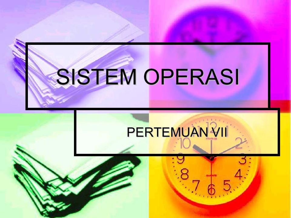 PROSES PADA MULTIPROGRAMMING Multiprogramming: Multiprogramming: Menjalankan dua atau lebih program sekaligus dalam pelaksanaan proses.