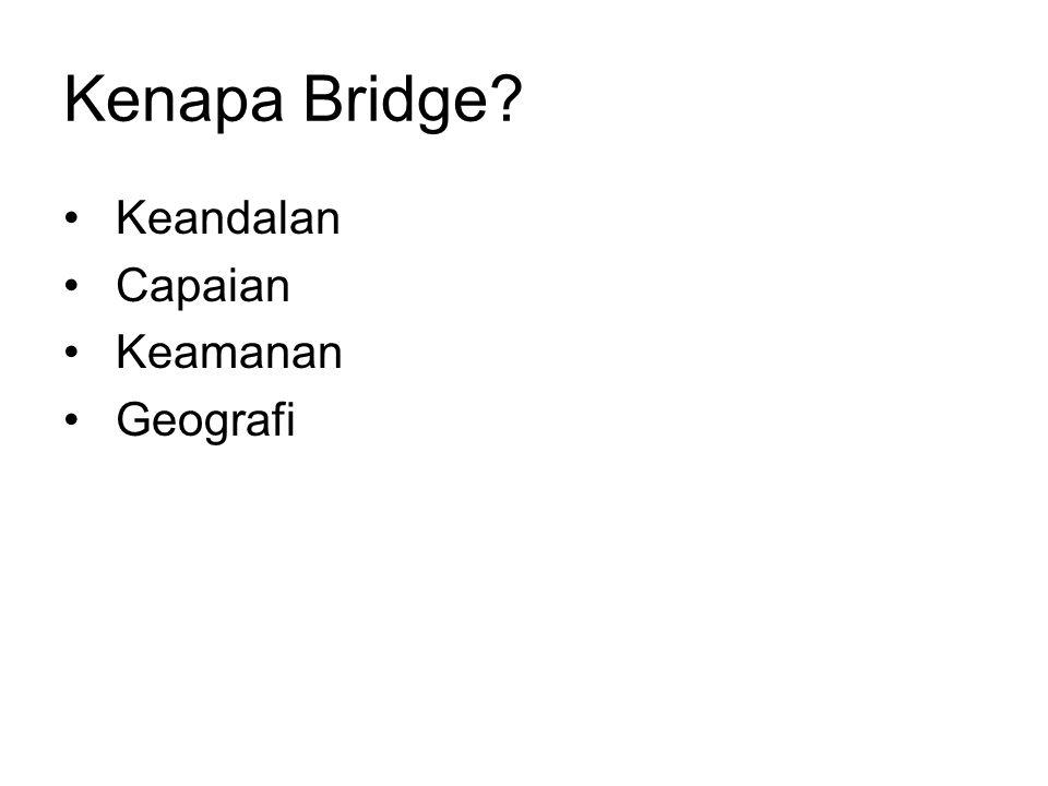 Kenapa Bridge? Keandalan Capaian Keamanan Geografi