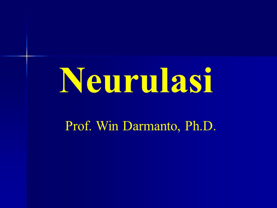 Neurulasi Prof. Win Darmanto, Ph.D.
