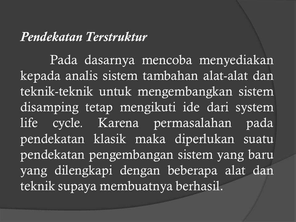 e. Masalah dalam penerapan sistem Kurang keterlibatan pemakai sistem dalam tahapan pengembangan sistem, maka pemakai sistem hanya mengenal sistem yang