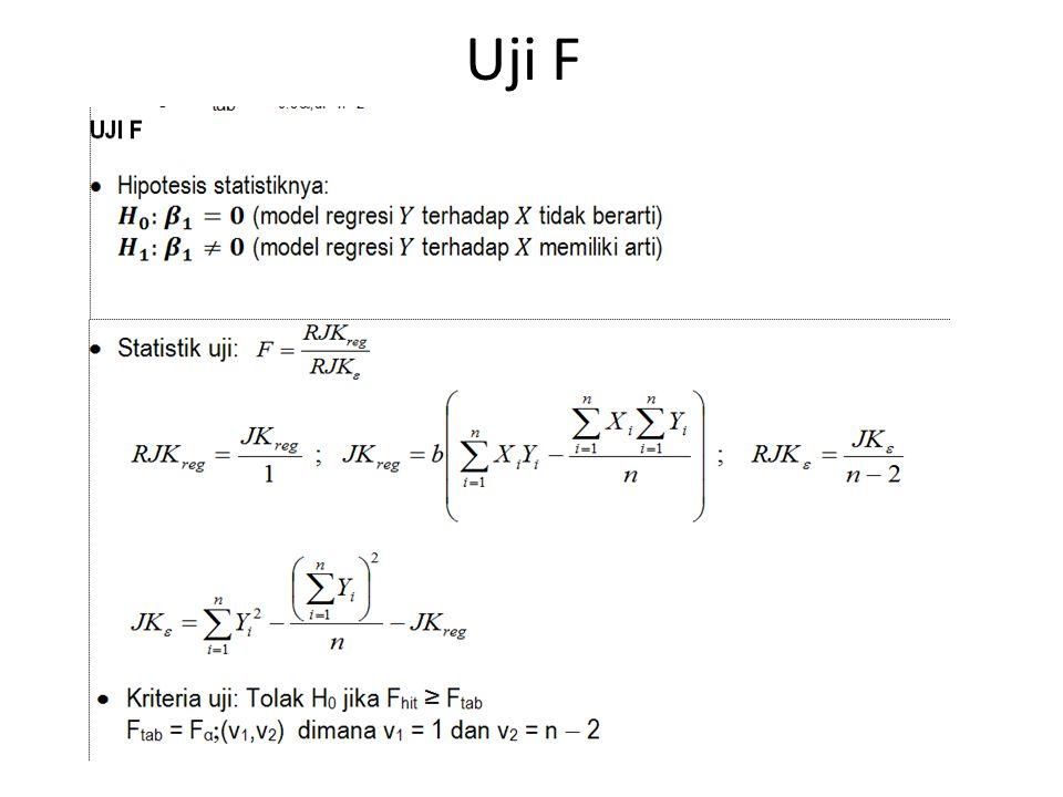 Uji F