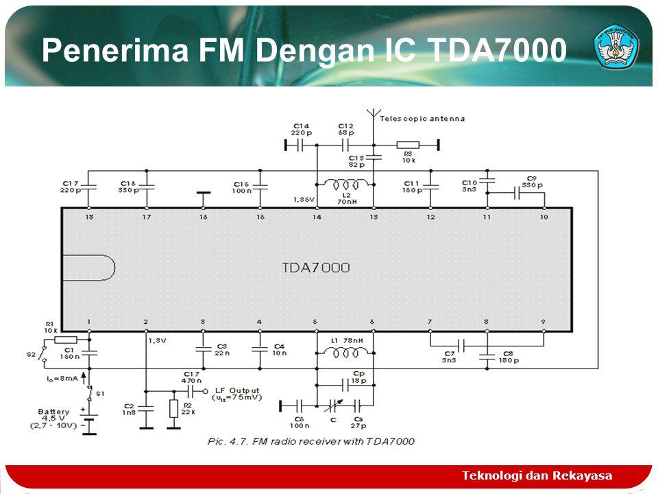 Penerima FM Dengan IC TDA7000 Teknologi dan Rekayasa