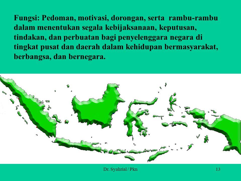 Dr. Syahrial / Pkn12 Definisi: Wawasan nusantara merupakan cara pandang dan sikap bangsa Indonesia mengenai diri dan lingkungannya dengan persatuan da