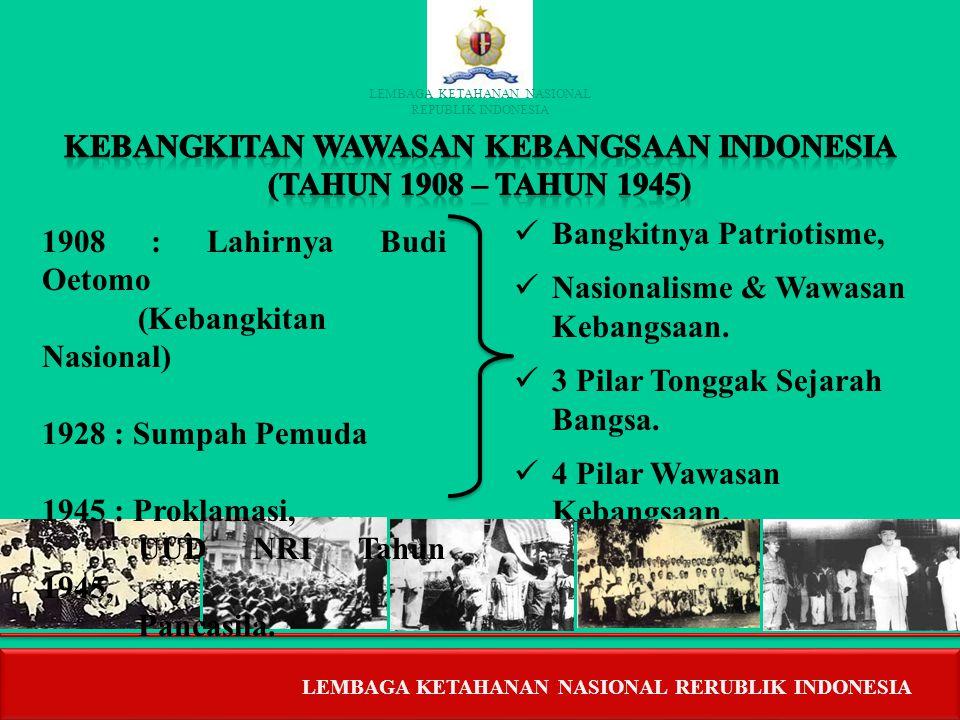 LEMBAGA KETAHANAN NASIONAL REPUBLIK INDONESIA LEMBAGA KETAHANAN NASIONAL REPUBLIK INDONESIA  ERA PRA KOLONIAL (PRA SEJARAH – ABAD XVII)  KERAJAAN HI