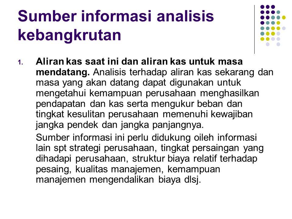 Sumber informasi analisis kebangkrutan 2.