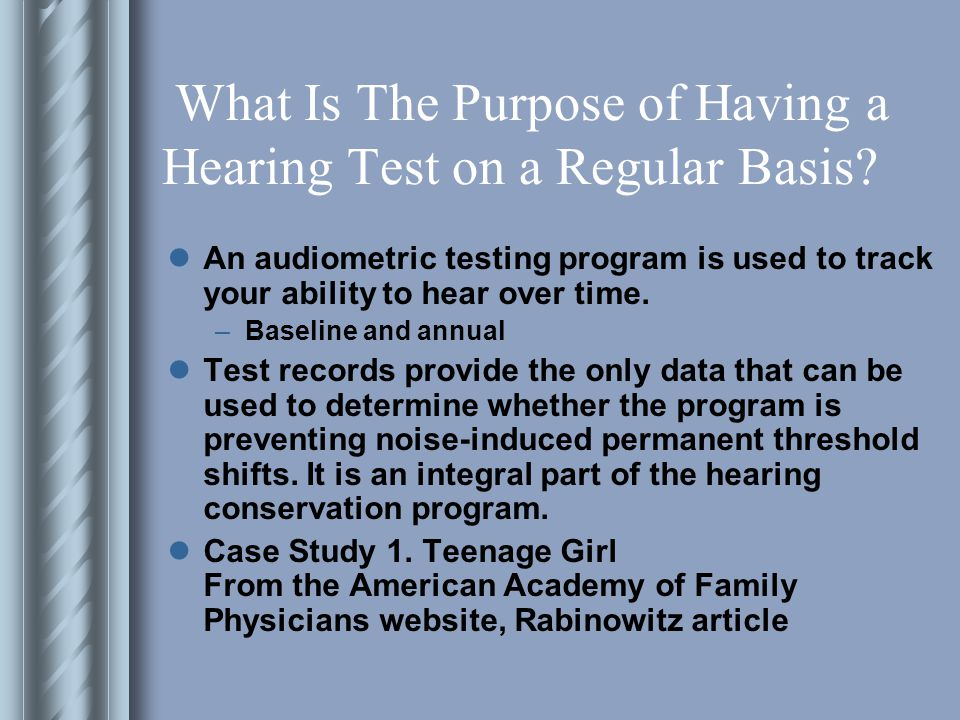 What Is The Purpose of Having a Hearing Test on a Regular Basis.