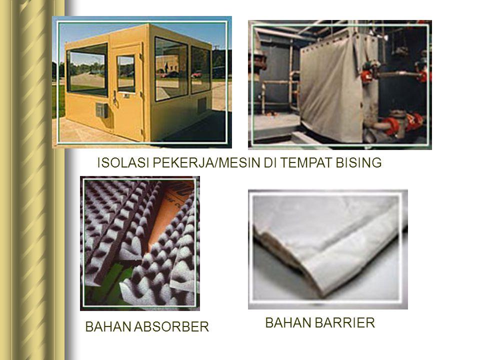 ISOLASI PEKERJA/MESIN DI TEMPAT BISING BAHAN ABSORBER BAHAN BARRIER