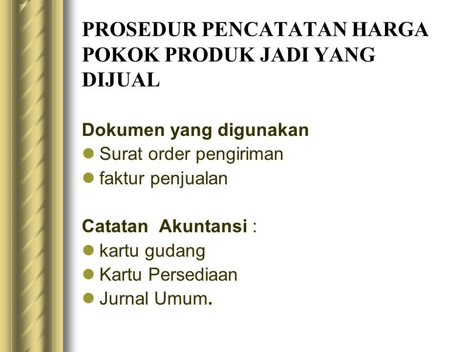 Bagan alir dokumen prosedur pencatatan harga pokok produk jadi yang dijual ( gmb. 15.6 )