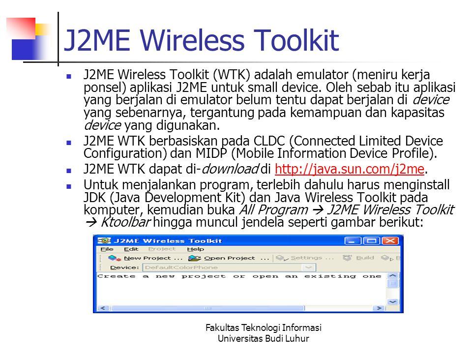 Fakultas Teknologi Informasi Universitas Budi Luhur TextBox Adalah sebuah objek yang ditujukan agar user dapat memasukkan text dan mengeditnya.
