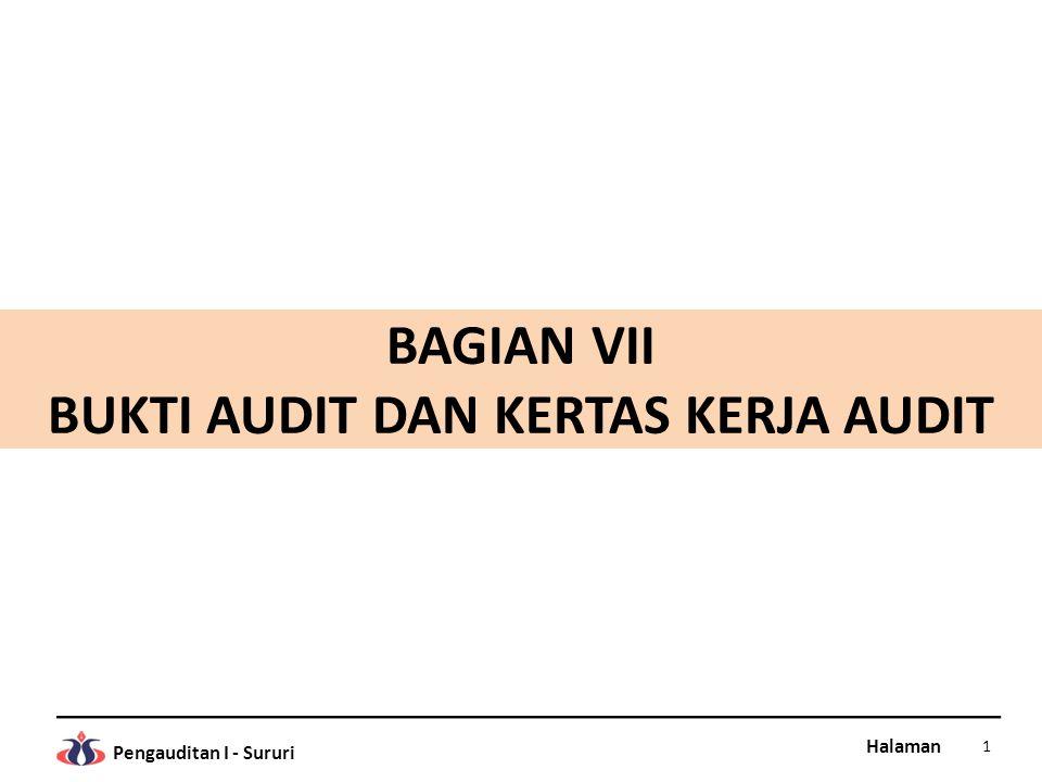 Halaman Pengauditan I - Sururi 5.Kompilasi kertas kerja (working trial balance/WTB), adalah tabel untuk mengkompilasi seluruh kertas kerja (daftar utama) yang dibuat selama proses pelaksanaan audit.