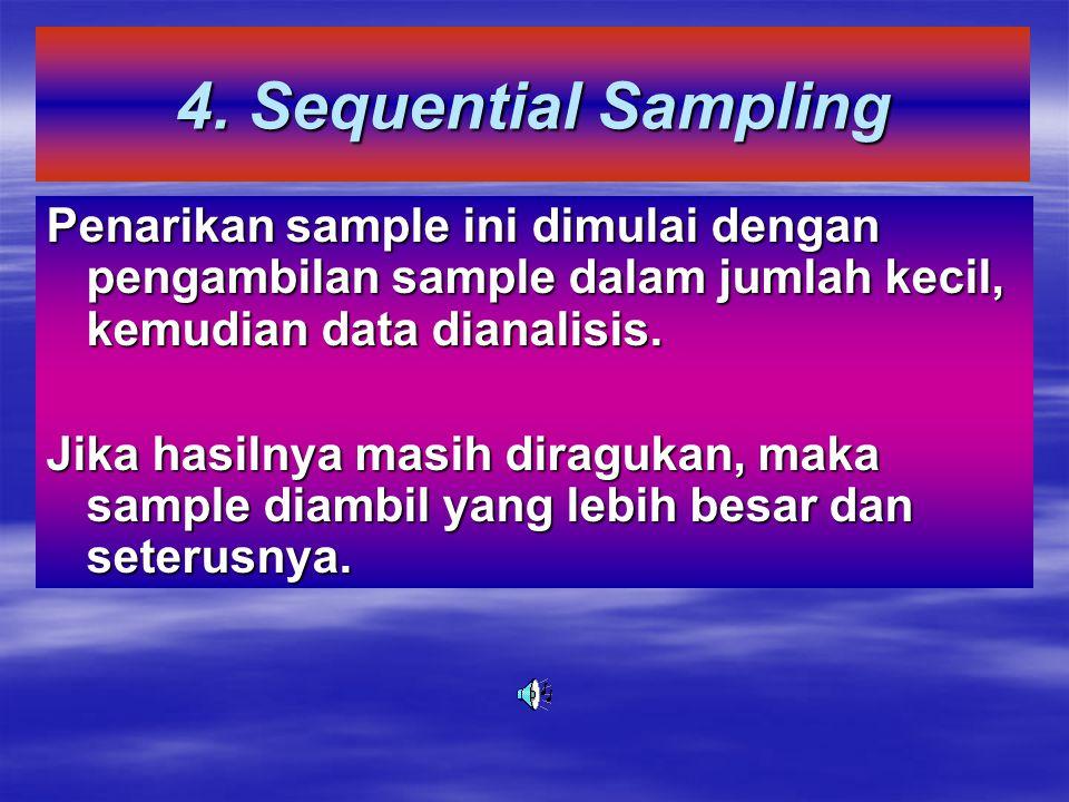 3. Snow-ball Sampling (Penarikan Sampel Bola Salju)  Cara penarikan sampel ini dimulai dengan jumlah yang sedikit akhirnya menjadi banyak, dengan beb