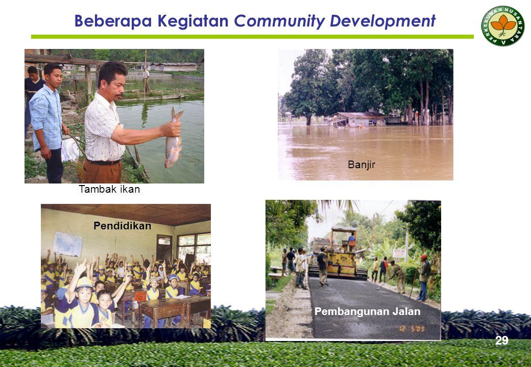 Beberapa Kegiatan Community Development Tambak ikan Banjir Pembangunan Jalan Pendidikan 29