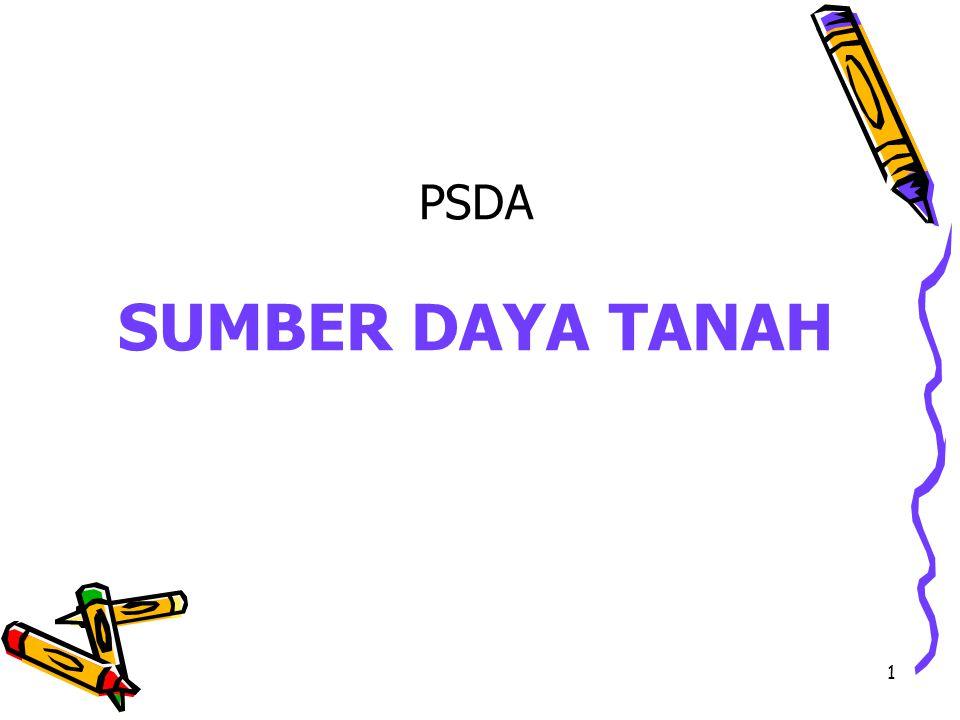 1 PSDA SUMBER DAYA TANAH