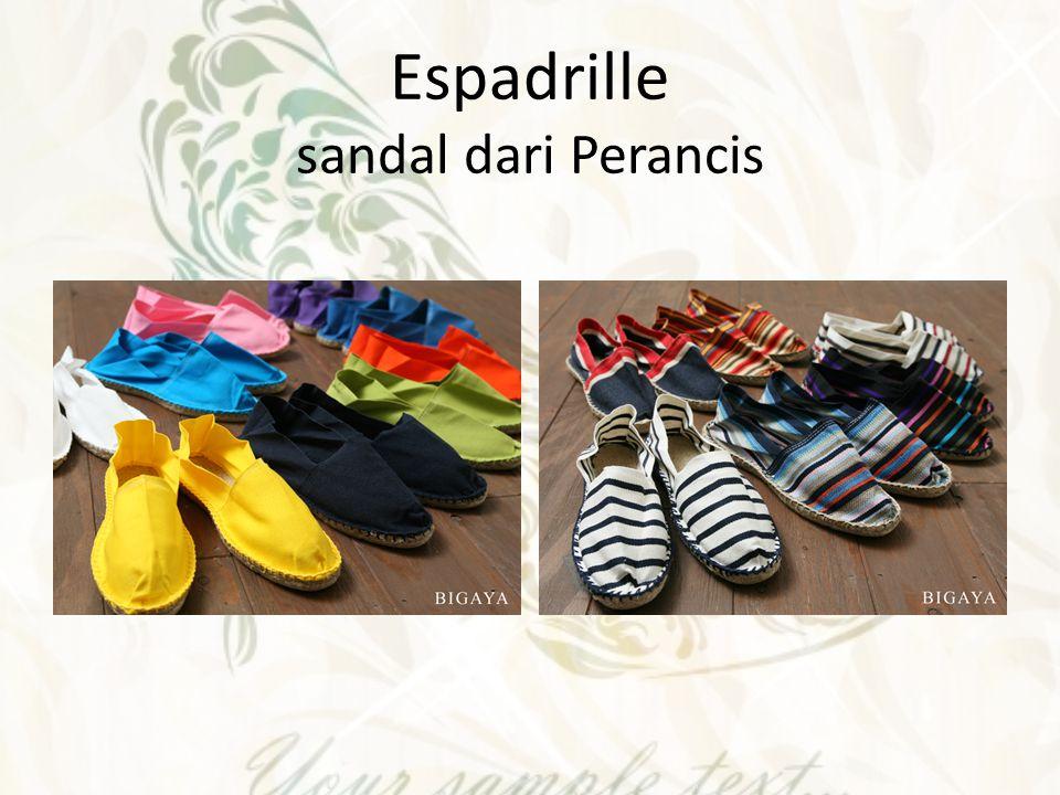 Espadrille sandal dari Perancis