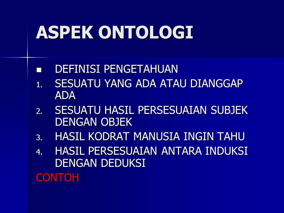 A.KLASIFIKASI PENGETAHUAN 1. P. KONGNRIT 2. P. ABSTRAK 3.