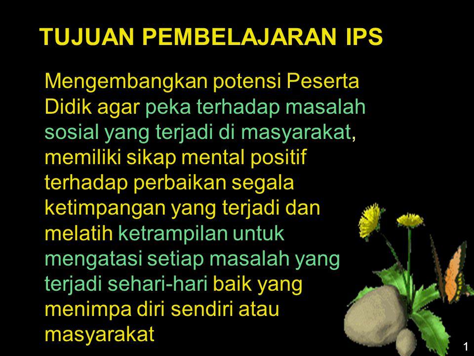 Karakteristik Materi IPS d.