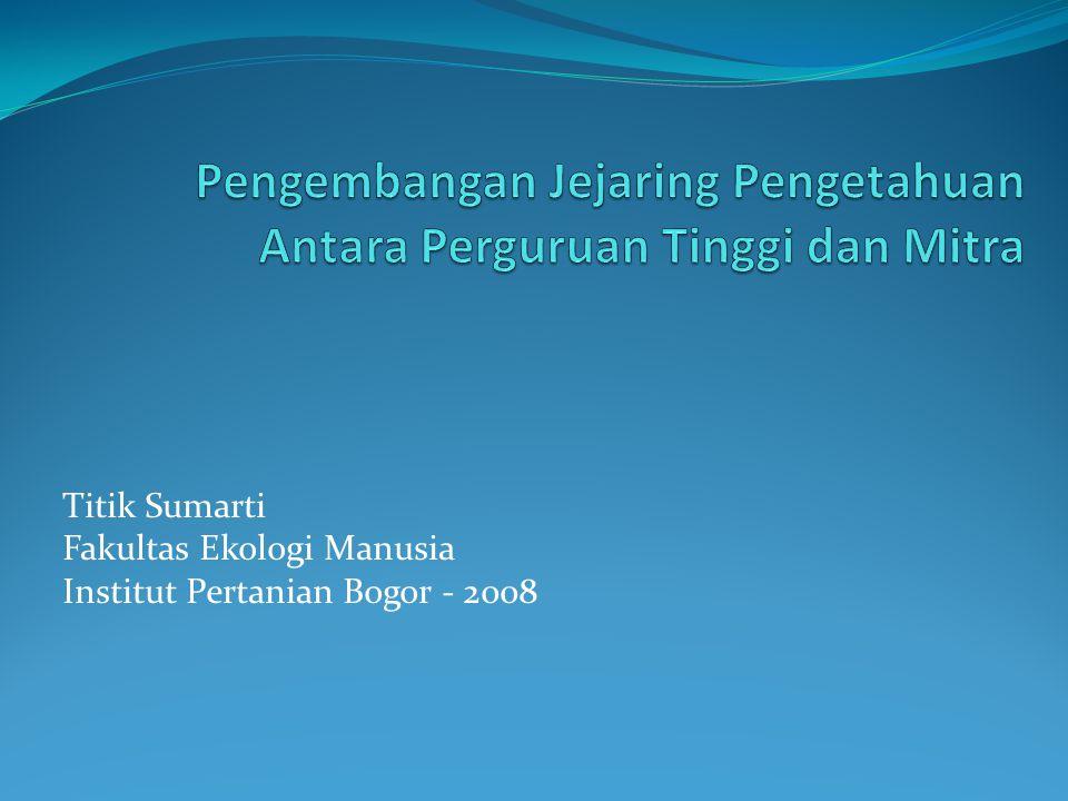 Titik Sumarti Fakultas Ekologi Manusia Institut Pertanian Bogor - 2008