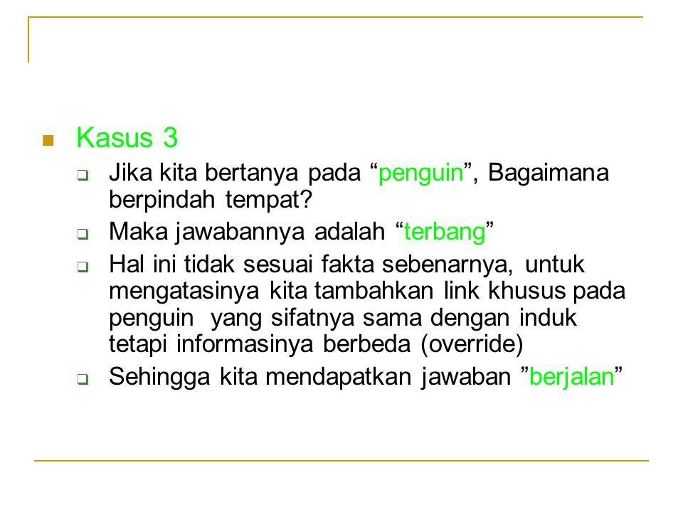 Kasus 3  Jika kita bertanya pada penguin , Bagaimana berpindah tempat.