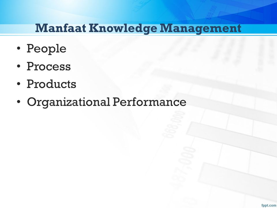 Manfaat Knowledge Management People Process Products Organizational Performance