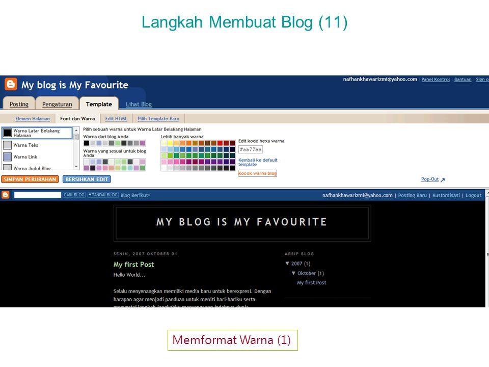 Langkah Membuat Blog (11) Memformat Warna (1)