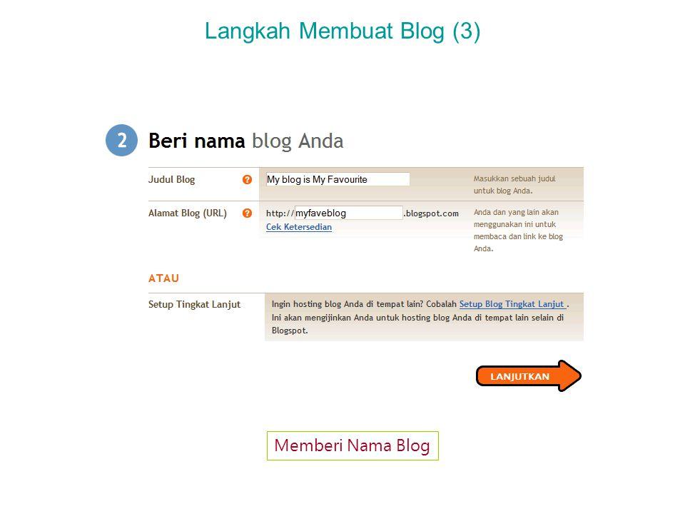 Langkah Membuat Blog (3) Memberi Nama Blog