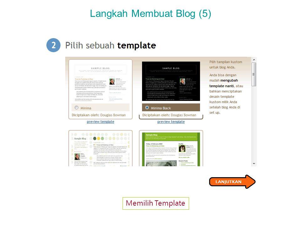 Langkah Membuat Blog (6) Konfirmasi Bahwa Blog Sudah Tercipta