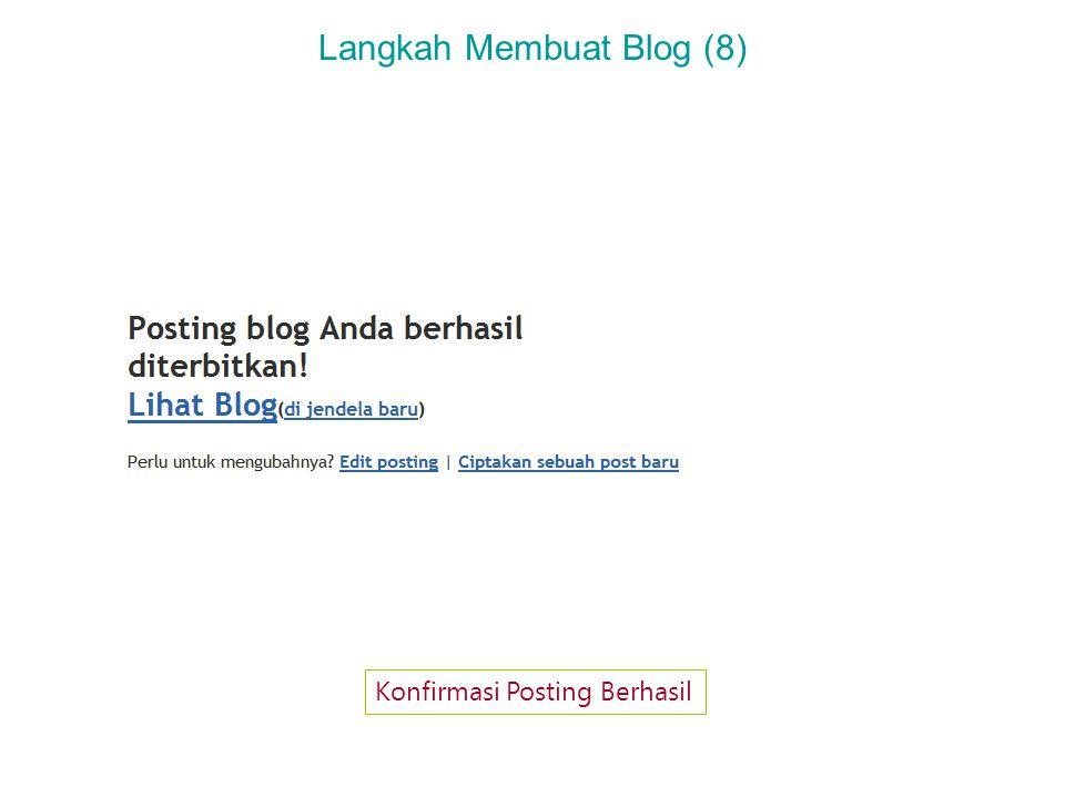 Langkah Membuat Blog (9) Tampilan Blog yang Baru Saja Tercipta