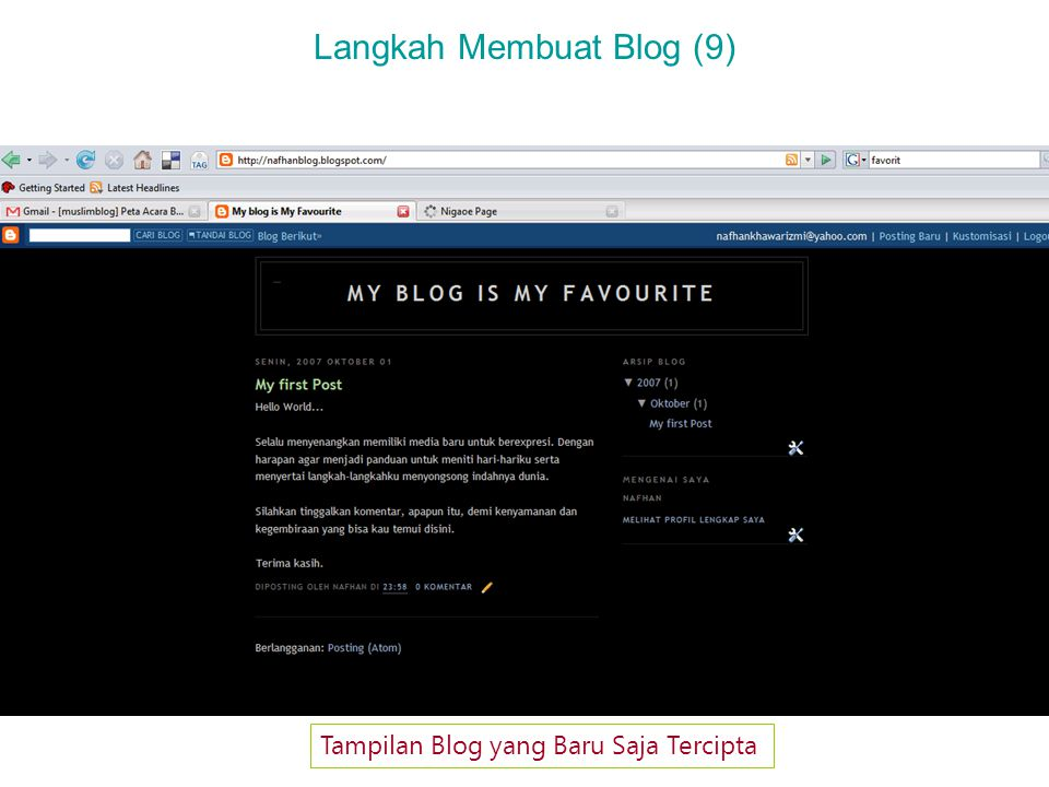 Langkah Membuat Blog (10) Mengenal Elemen Halaman