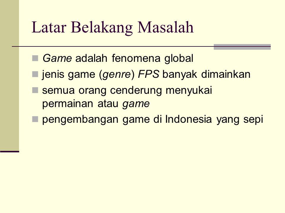 Latar Belakang Masalah Game adalah fenomena global jenis game (genre) FPS banyak dimainkan semua orang cenderung menyukai permainan atau game pengembangan game di Indonesia yang sepi