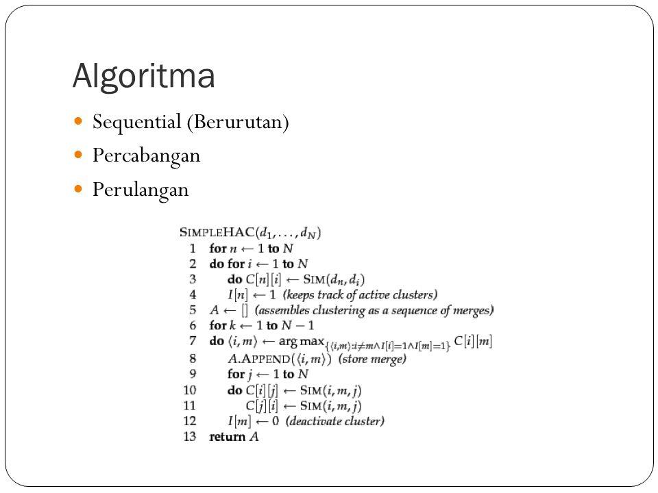 Algoritma Sequential (Berurutan) Percabangan Perulangan