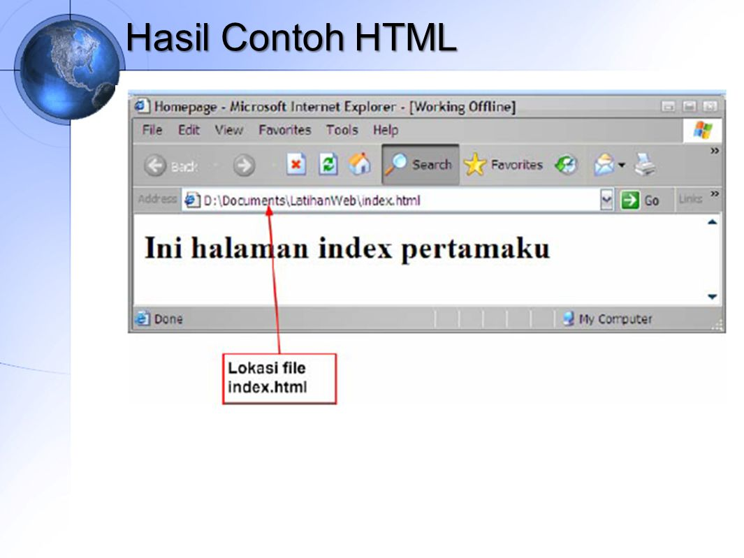 Hasil Contoh HTML