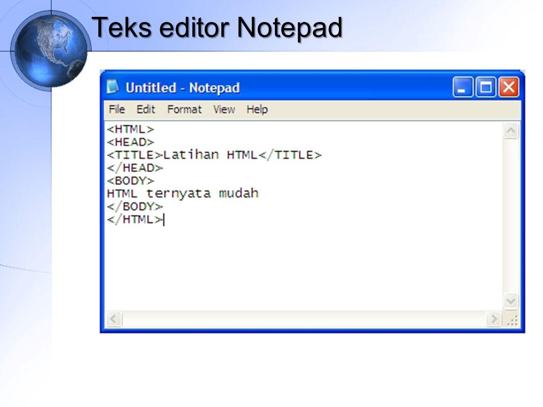 Teks editor Notepad